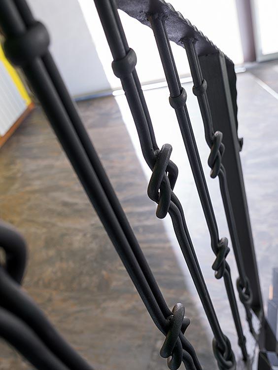 Barana d'escala interior de ferro forjat